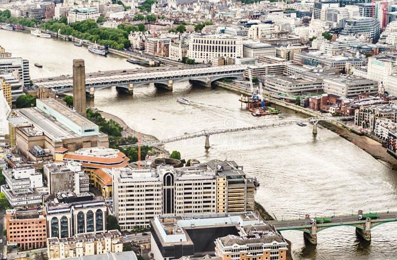 Panorama van Londen stock foto
