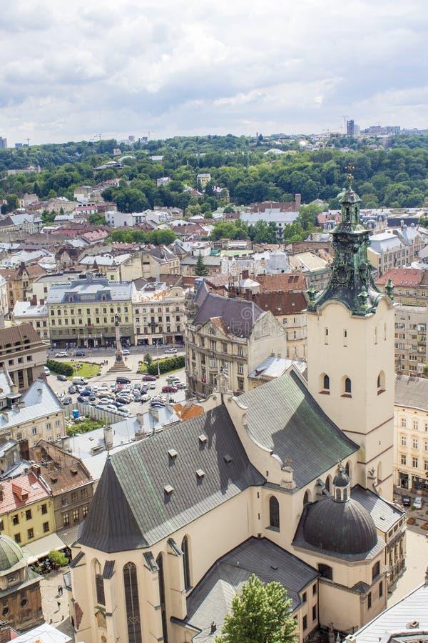 Panorama van Lviv royalty-vrije stock foto