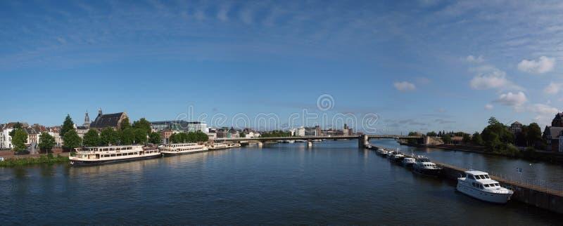Panorama van Maastricht, Nederland royalty-vrije stock foto