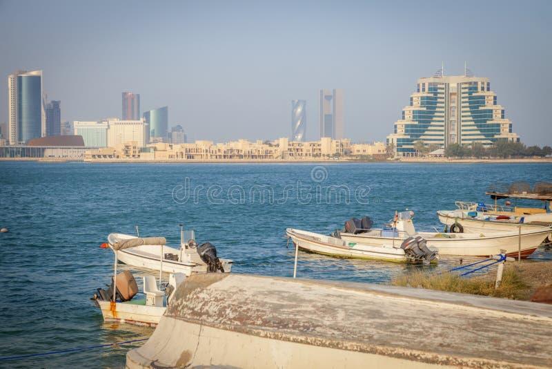 Panorama van Manama stock afbeeldingen