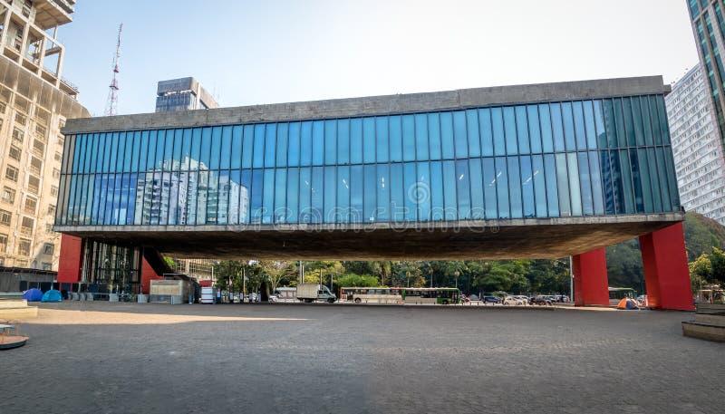 Panorama van MASP-Sao Paulo Museum van Kunst - Sao Paulo, Brazilië royalty-vrije stock fotografie