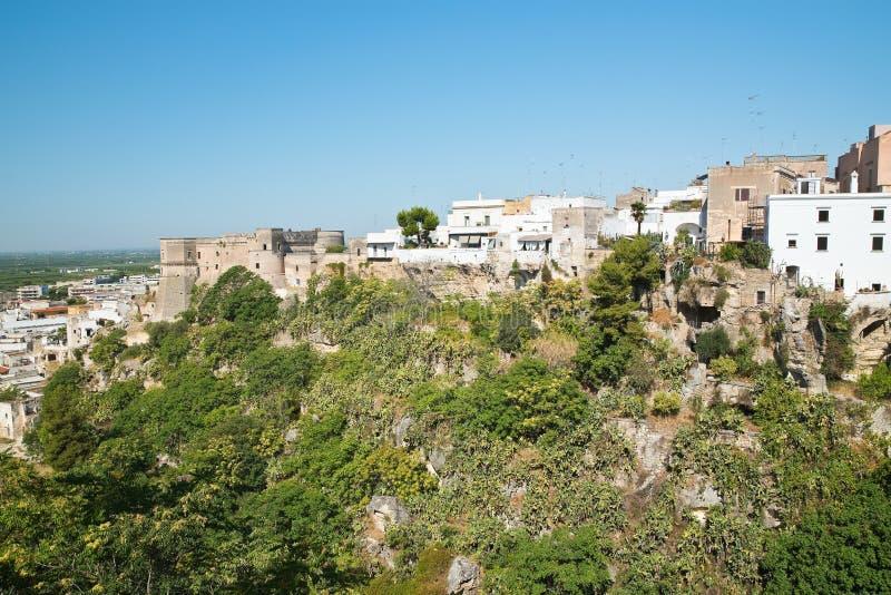 Panorama van Massafra Puglia Italië royalty-vrije stock foto