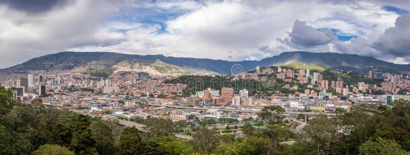 Panorama van Medellin, Colombia royalty-vrije stock foto's