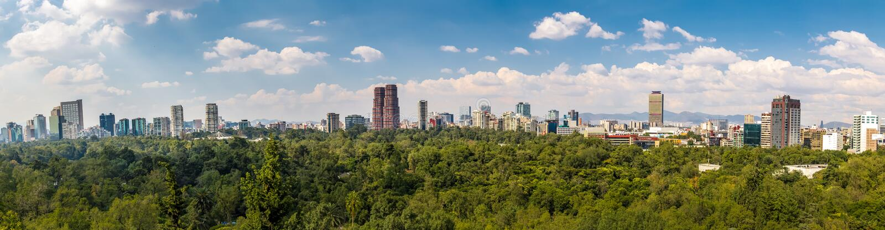 Panorama van Mexico-City - Mexico stock foto's