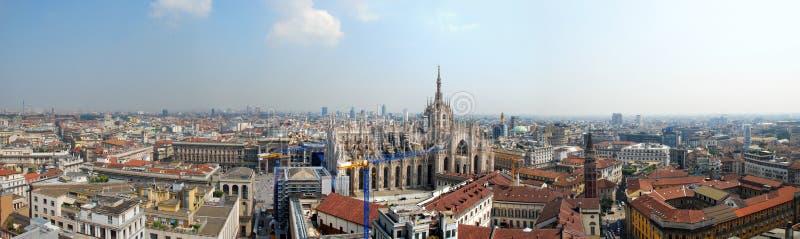 Panorama van Milaan, Italië stock foto