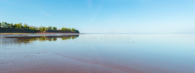 Panorama van Minas Basin at low tide royalty-vrije stock afbeeldingen