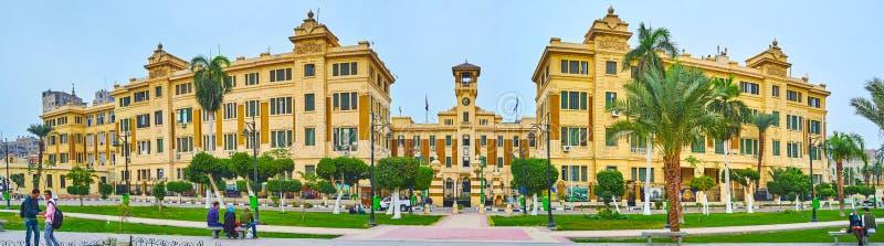 Panorama van Ministerie van Huisvesting, Kaïro, Egypte royalty-vrije stock afbeeldingen