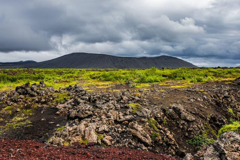 Panorama van mooi Ijslands Landschap, IJsland royalty-vrije stock afbeelding