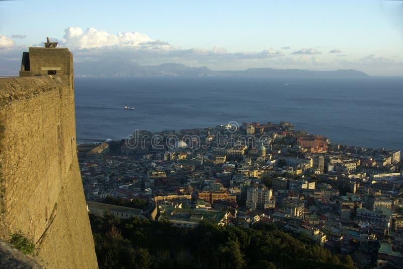 Panorama van Napels stock afbeelding