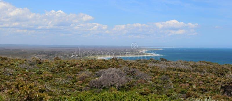 Panorama van Nationaal Park D'Entrecasteaux stock afbeelding