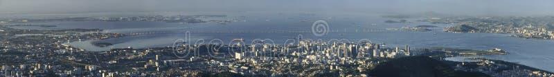 Panorama van Niteroi brug, Rio de Janeiro, Brazilië royalty-vrije stock fotografie