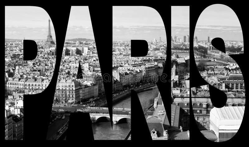 Panorama van Notre-Dame stock foto