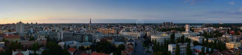 Panorama van Novi Sad, Servië royalty-vrije stock fotografie