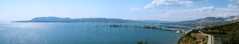 Panorama van Novorossiysk stock afbeeldingen
