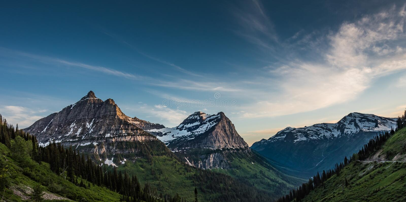 Panorama van Oberlin Clements en Kanonbergen royalty-vrije stock foto's