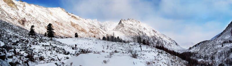 Panorama van Oostelijke bergen Sayan. Altai. stock fotografie