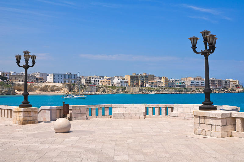 Panorama van Otranto. Puglia. Italië. royalty-vrije stock afbeelding