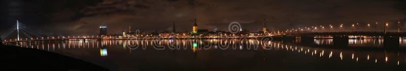 Panorama van Oud Riga royalty-vrije stock afbeelding
