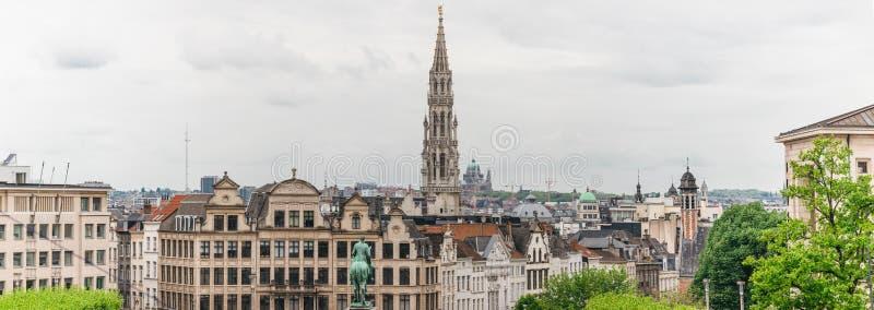 Panorama van over de stad van Brussel, Belgi? royalty-vrije stock fotografie
