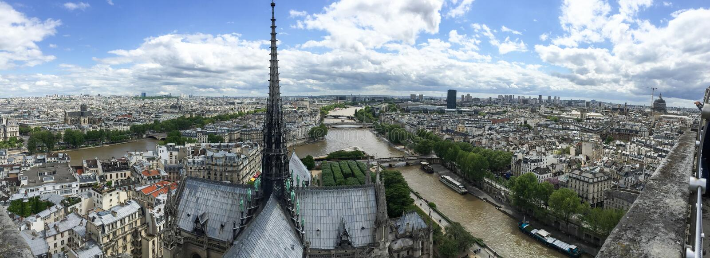 Panorama van Parijs royalty-vrije stock afbeelding