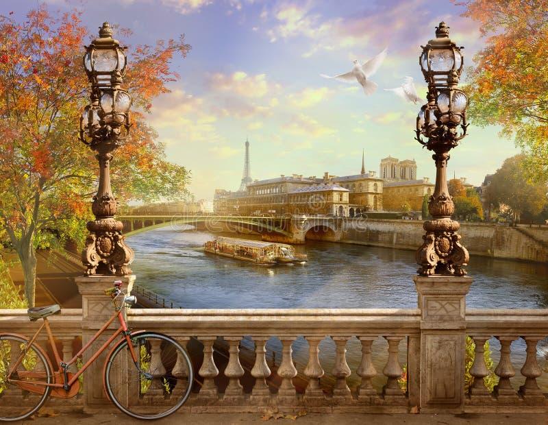 Panorama van Parijs stock afbeelding