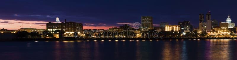 Panorama van Peoria bij zonsondergang. stock afbeeldingen