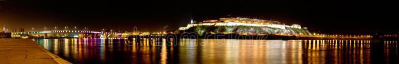 Panorama van Petrovaradin-Vesting in Novi Sad, Servië stock afbeelding