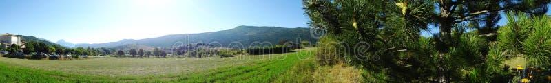 Panorama van Platteland in Zuiden van Frankrijk stock foto