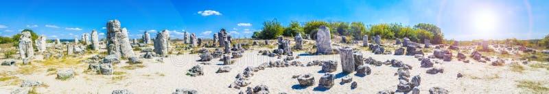 Panorama van Pobiti Kamani, Bulgarije royalty-vrije stock foto