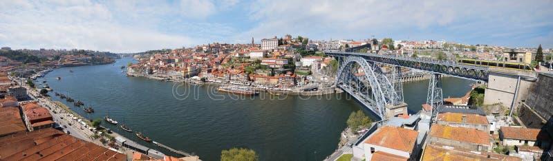 Panorama van Porto stad, Portugal royalty-vrije stock afbeelding