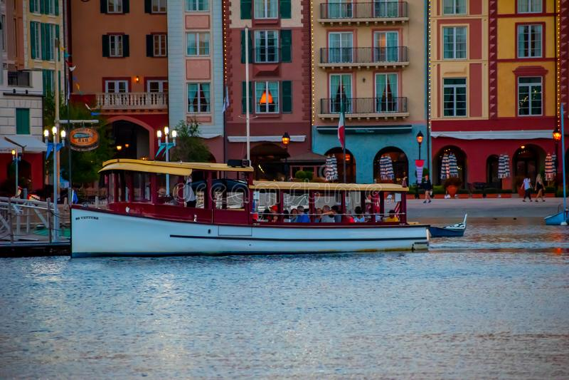 Panorama van Portofino-Baaihotel, al charme van Itali? op Universal Studios-gebied 5 stock foto