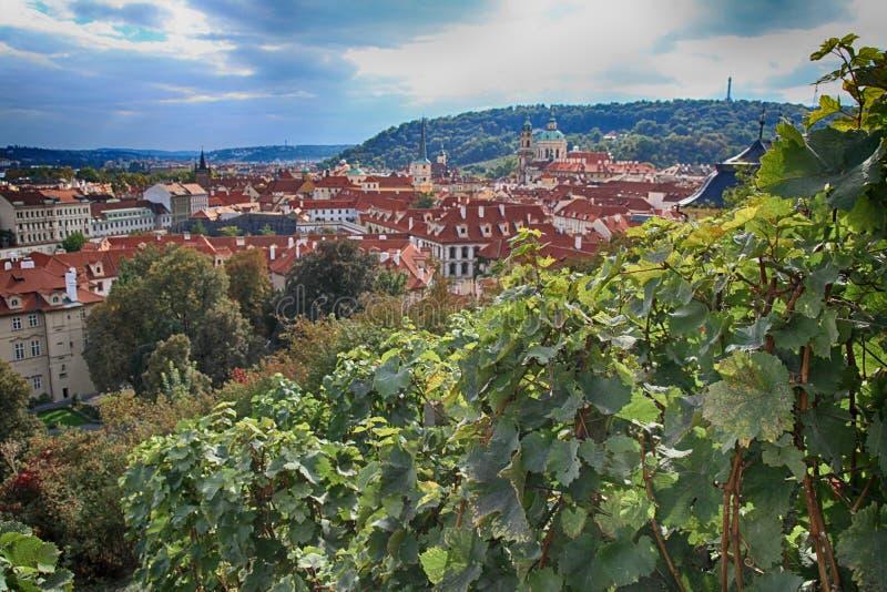 Panorama van Praag, Tsjechische Republiek stock foto