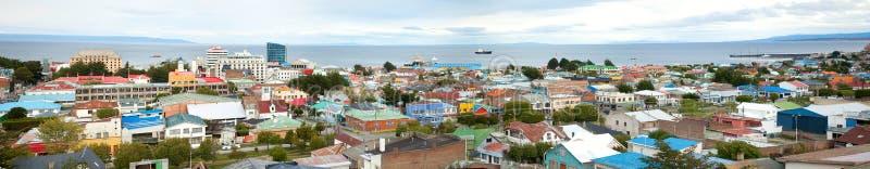 Panorama van Punta Arena's, Chili stock foto