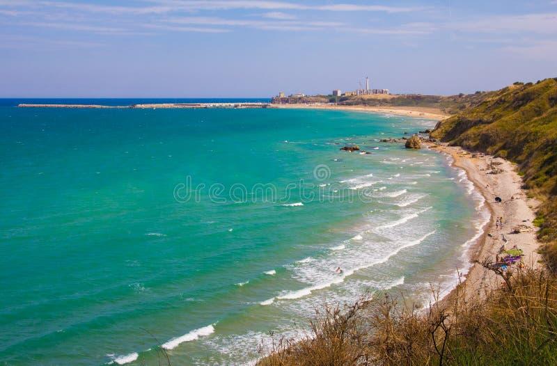Panorama van Punta Penna stock fotografie