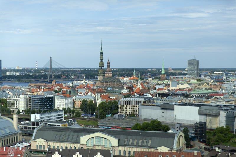 Panorama van Riga stock foto