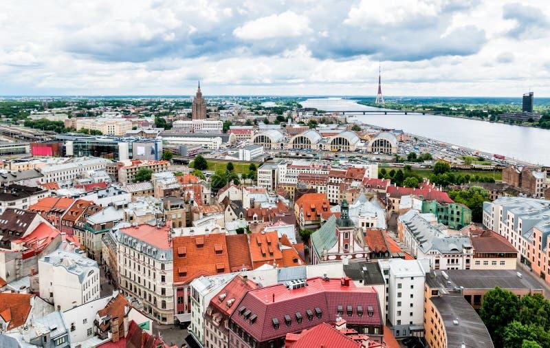 Panorama van Riga, Letland royalty-vrije stock fotografie