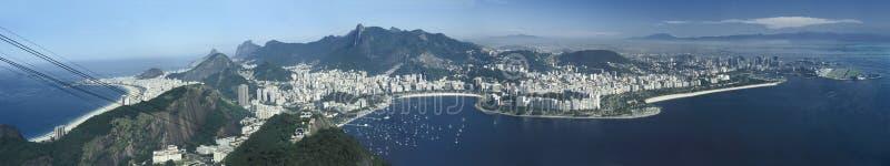 Panorama van Rio de Janeiro, Brazilië stock foto's