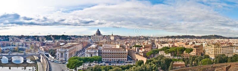 Panorama van Rome royalty-vrije stock foto