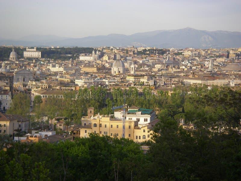 Panorama van Rome stock fotografie
