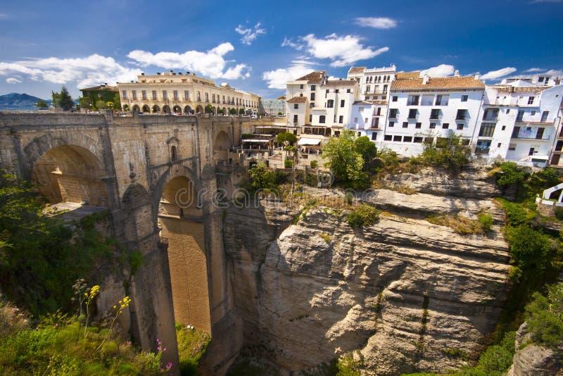Panorama van Ronda, Andalusia, Spanje royalty-vrije stock afbeelding