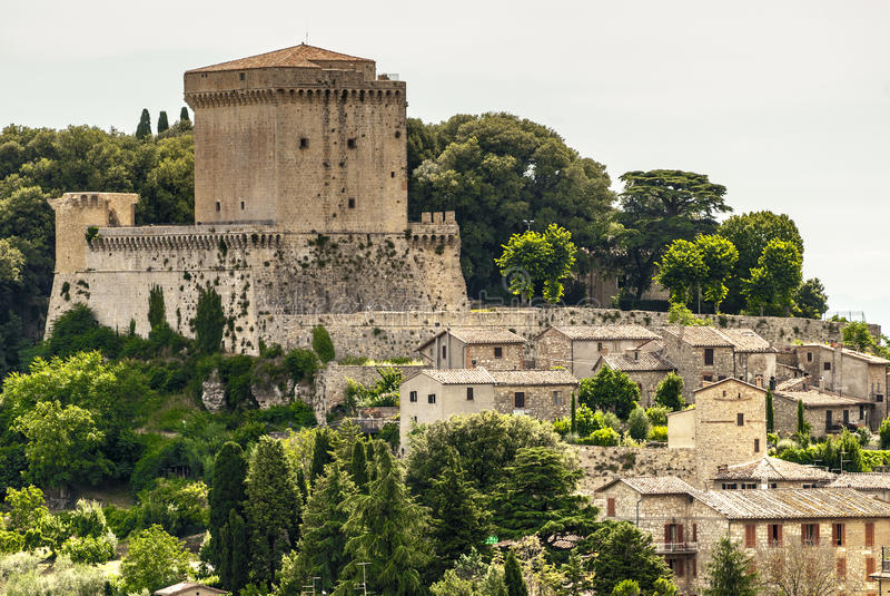 Sarteano (Toscanië) stock foto's