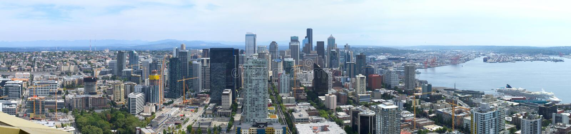 Panorama van Seattle royalty-vrije stock foto's