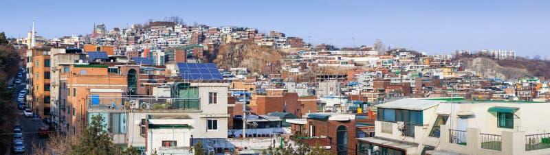 Panorama van Seoel, Zuid-Korea stock afbeeldingen