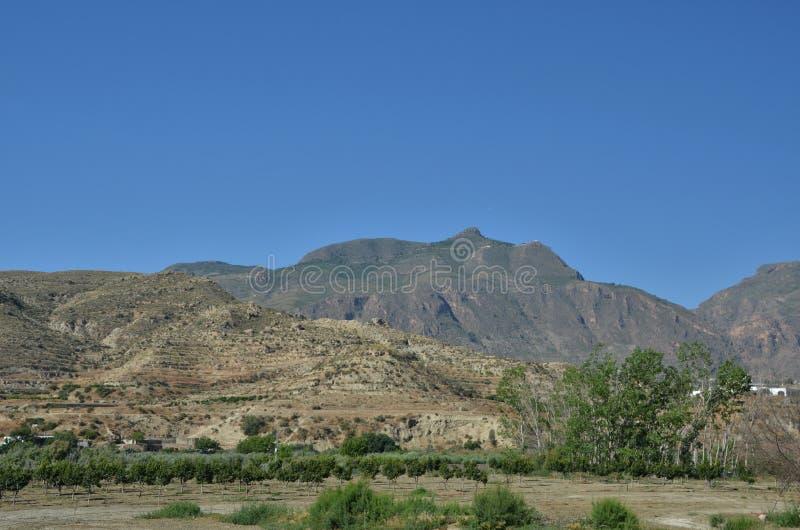 Panorama van Siërra Nevada Mountains royalty-vrije stock fotografie