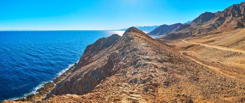 Panorama van Sinai kust, Egypte royalty-vrije stock foto