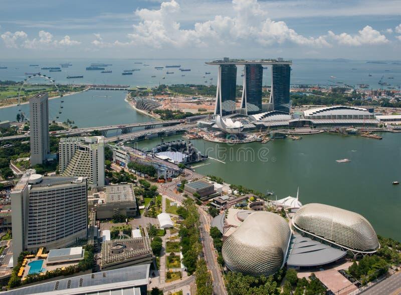 Panorama van Singapore stock foto