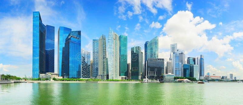 Panorama van Singapore de stad in stock foto's