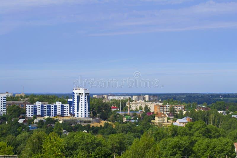 Panorama van Smolensk, Rusland royalty-vrije stock foto