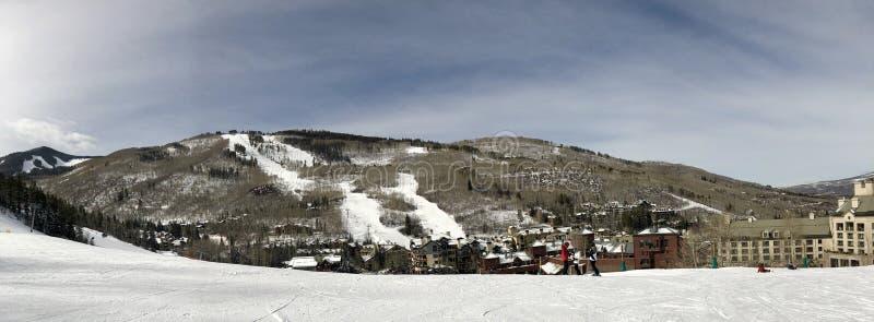 Panorama van sneeuw-Minder Bergen stock fotografie