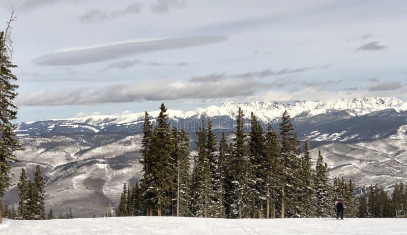Panorama van sneeuw-Minder Bergen stock foto's